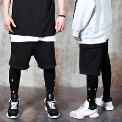 Contrast logo leggings layered pants