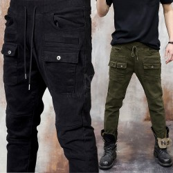 Double front pocket banded pants