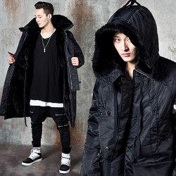 Fully fur lined hooded long parka