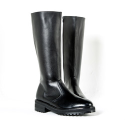Commando sole zip-up long boots