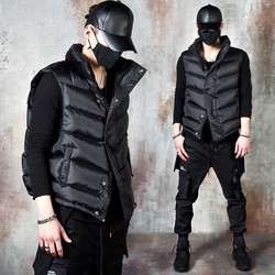 Diagoanl padded down vest