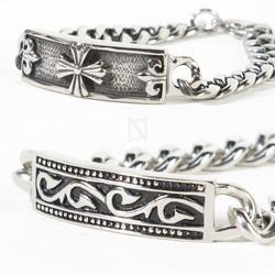 Heraldry symbol metal chain bracelet ver.2
