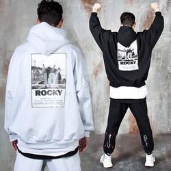 Reflective logo Rocky hoodie