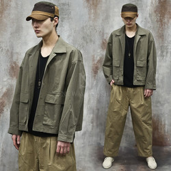 Washed utility cotton jacket