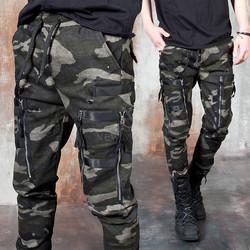 Camouflage double zipper pocket pants