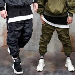 Multiple wrinkled jogger pants