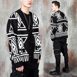 Unique patterned knit cardigan