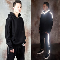 Reflective line accent hoodie