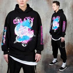 Grunge spray galaxy hoodie