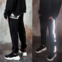 Reflective line accent sweatpants