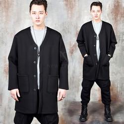 Double pocket 4-button long cardigan
