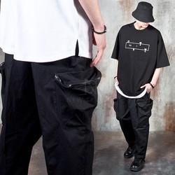 3D pocket wide baggy pants