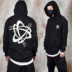 Futuristic symbol printed hoodie