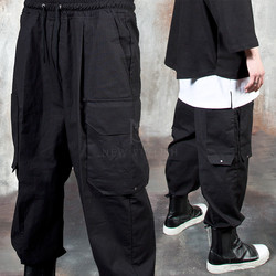 Multiple cargo pocket baggy pants