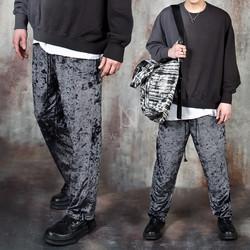 Velvet banded pants