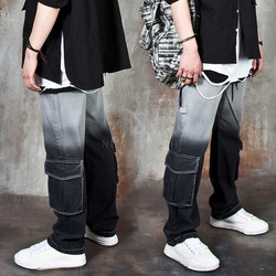 Gradation banded cargo pants