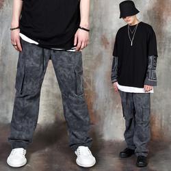 Loose fit tie-dye cargo pants