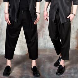 Pleated wide capri pants
