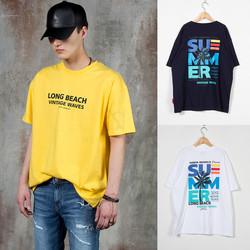 Summer long beach t-shirts