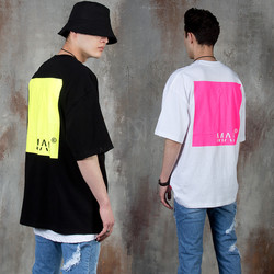 Squared neon contrast t-shirts
