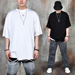 Distressed and ripped hem t-shirts