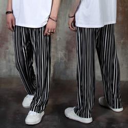 Stripe pleats pants