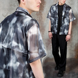 Tie-dye see-through shirts