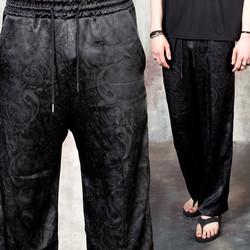 Paisley silket banded pants