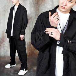 Buckle strap shirts jacket - 502