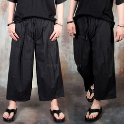Pleated baggy pants