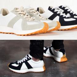 Futuristic chunky outsole sneakers