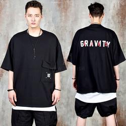 Flap pocket lettering t-shirts