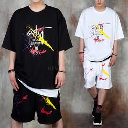 Splash paint lettering t-shirts