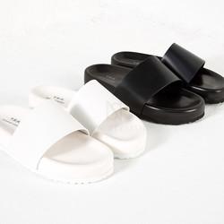 Chunky outsole slider slipper