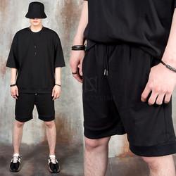 Simple banded hem shorts