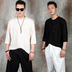 Simple linen elbow t-shirts