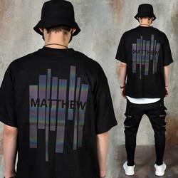 Reflective bar printed t-shirts