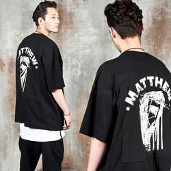 Jesus printed patchwork t-shirts