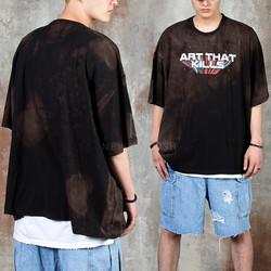Unique lettering grunge color t-shirts