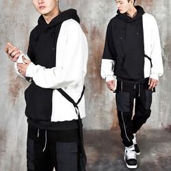 Contrast side strap hoodie