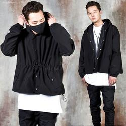 String hooded jacket