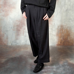 Pintuck wide pants
