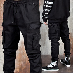 Multiple big pocket banded pants