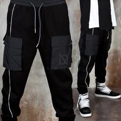 One side line double pocket jogger pants