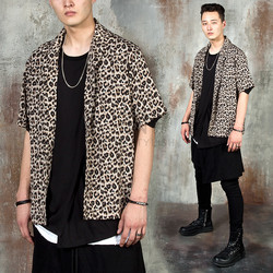 Leopard patterned short sleeve shirts