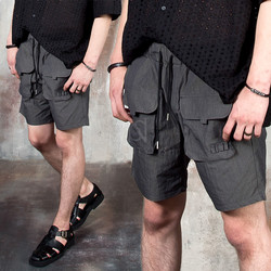 Double front pocket shorts
