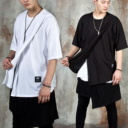 Cross layered unbalance t-shirts