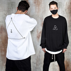 Triangle printed oversized t-shirts