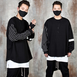 Stripe contrast oversized t-shirts