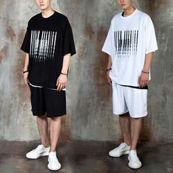 Unique pattern towel t-shirt and shorts set